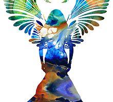Healing Angel - Spiritual Art Painting by Sharon Cummings