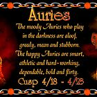 The Aries/Taurus Cusp  is approximately from dates April 16 to April 26 and is ruled by both Mars and Earth with the elements of fire and earth. by Valxart