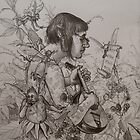elf bard bored by the notes on the page by frey  micklethwait