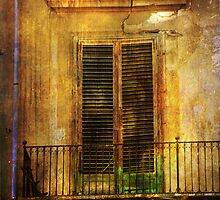 Shuttered door in Palermo by Patito49