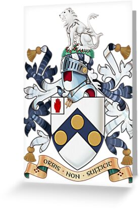 """James Bonds coat-of-arms and family motto """"The world is not enough""""  by axletee"""