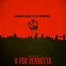 "Movie Poster - ""V for VENDETTA"" by Mark Hyland"