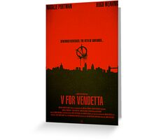 "Movie Poster - ""V for VENDETTA"" Greeting Card"
