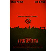 "Movie Poster - ""V for VENDETTA"" Photographic Print"