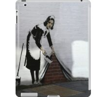 Banksy maid  iPad Case/Skin