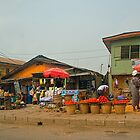 Street Shops  Lagos 1 by Warren. A. Williams