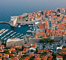 Old Harbor of Dubrovnik in Croatia by kirilart