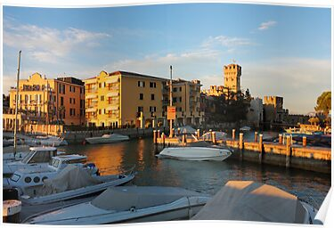 Yacht port in Sirmione, Italy by kirilart