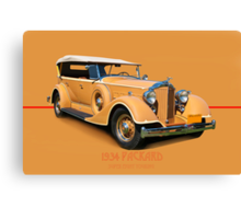 1934 Packard Touring Super Eight w/ID Canvas Print