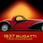 1937 Bugatti Type 57 SC Atalante Coupe w/ID by DaveKoontz
