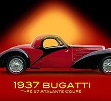 1937 Bugatti Type 57 SC Atalante Coupe w/ID by DaveKoontz