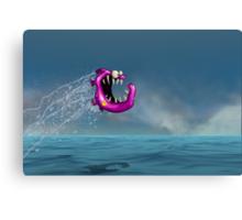 Mad Pink Fish Crazy Jump Canvas Print