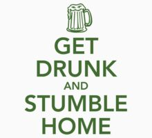 Get drunk and stumble home by Cheesybee