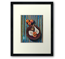 Bosc Pears and Apricots for Elaine Framed Print