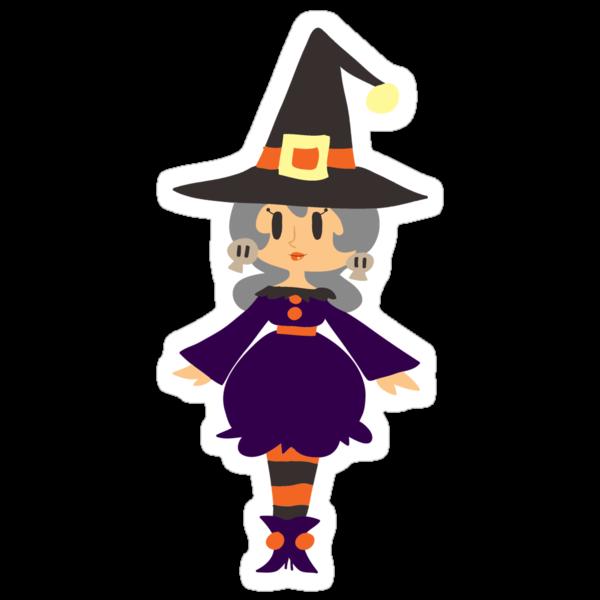 Cute Witch with Silver Hair by SaradaBoru
