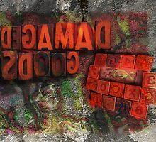 damaged goods calendar back cover by David Kessler