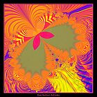 Psychedelic Butterfly Explosion Fractal by Rose Santuci-Sofranko