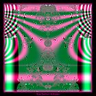 Kimono in Pink and Green Fractal by Rose Santuci-Sofranko