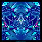 Blue Elegance Fractal by Rose Santuci-Sofranko