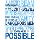 &#x27;All Men Dream&#x27; Quote [BLUE] by Styl0