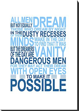 'All Men Dream' Quote [BLUE] by Styl0