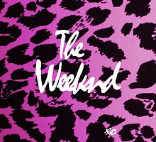 The Weeknd Pink Cheetah Print Case by Ryan Perkins