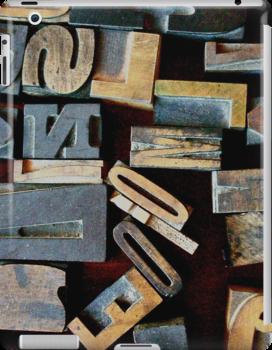 "Typesetting - The Letter ""N"" by Mary Ellen Garcia"