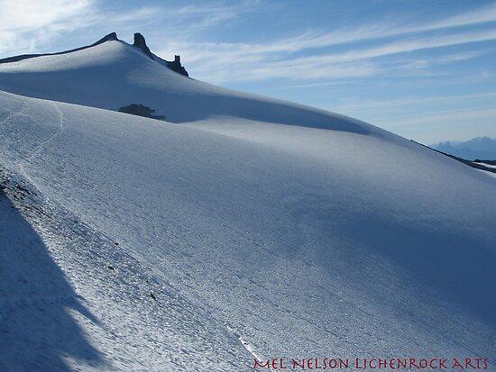 Snow smooth as butter, Mt Daniels, Cascade mountains, Washington by LichenRockArts