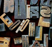 "Typesetting - The Letter ""E"" by Mary Ellen Garcia"
