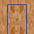 Basketball Court - iPhone Case by PixelRider