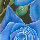 'A Touch  Blue' by Dawn Jones Art