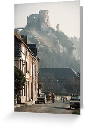 Richard's Castle Gaillard over Les Andelays 198402160047  by Fred Mitchell