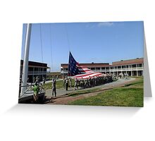 Flag Raising at Fort McHenry Greeting Card