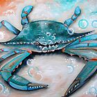 Blue Crab by ApolloniaArt
