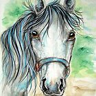 Pretty Grey Horse by ApolloniaArt