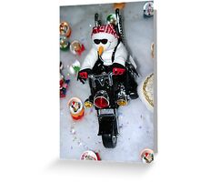 Motorcycle Snowman Greeting Card
