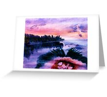 The nest must be protected, watercolor Greeting Card