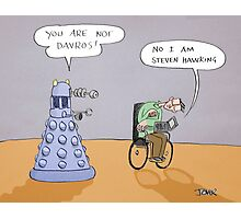 stephen and the dalek Photographic Print