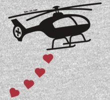 Army Helicopter Bombing Love Kids Clothes