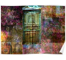 Saint Augustine BOOK Quote Poster