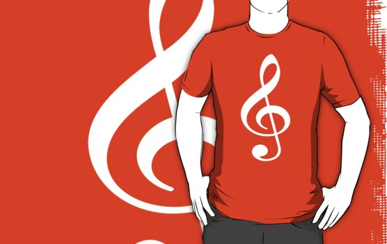 Music Treble Clef by StencilCrew