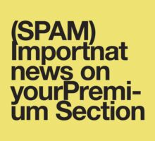 (Spam) Important news! (Black type) by poprock