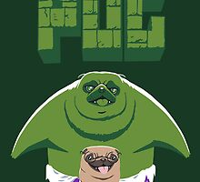 The Incredible Pug by Fuacka
