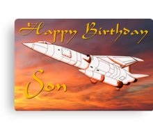 TSR2 - Happy Birthday Son card Canvas Print