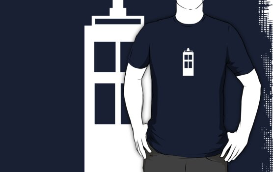Simple TARDIS | White by wolvenhalo