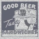Vintage Advertising Good Beer Tasty Sandwiches by Vana Shipton