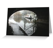 Wintery Regents Canal Greeting Card