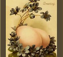 Easter Greetings-Eggs and Flowers by Yesteryears