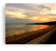 Just A Beach At Twilight Canvas Print