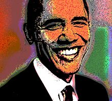 BARACK OBAMA-44TH PRESIDENT by OTIS PORRITT